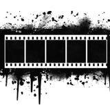 Priorità bassa con Grunge Filmstrip Illustrazione Vettoriale