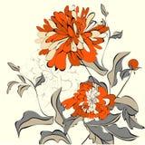 Priorità bassa con i bei fiori Immagine Stock Libera da Diritti