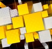 Priorità bassa con i cubi 3d illustrazione vettoriale