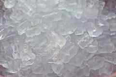 Priorità bassa con i cubi di ghiaccio Fotografia Stock Libera da Diritti