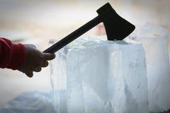 Priorità bassa con i cubi di ghiaccio Fotografia Stock
