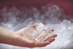 Priorità bassa con i cubi di ghiaccio Immagine Stock Libera da Diritti