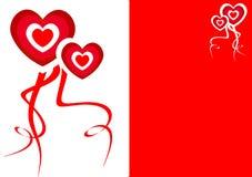 Priorità bassa con i cuori di amore per il giorno del biglietto di S. Valentino Immagini Stock