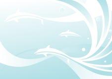 Priorità bassa con i delfini illustrazione di stock