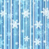 Priorità bassa con i fiocchi di neve Fotografie Stock
