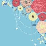 Priorità bassa con i fiori Immagine Stock