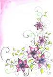 Priorità bassa con i fiori. Fotografia Stock