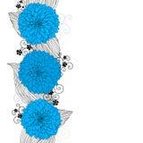 Priorità bassa con i fiori blu royalty illustrazione gratis