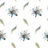 Priorità bassa con i fiori dell'acquerello royalty illustrazione gratis