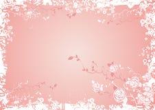 Priorità bassa con i fiori della Rosa Fotografia Stock