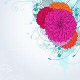 Priorità bassa con i fiori dentellare illustrazione vettoriale