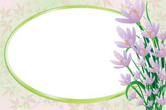 Priorità bassa con i fiori di colore rosa della sorgente royalty illustrazione gratis