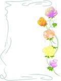 Priorità bassa con i fiori di rosa Immagini Stock Libere da Diritti