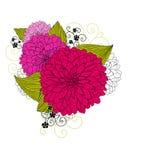 Priorità bassa con i fiori di rumore metallico royalty illustrazione gratis