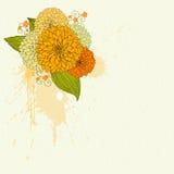 Priorità bassa con i fiori gialli royalty illustrazione gratis
