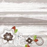 Priorità bassa con i fiori marroni Fotografia Stock