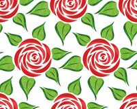 Priorità bassa con i fiori rossi Fotografia Stock