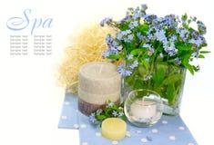 Priorità bassa con i fiori. stazione termale Immagini Stock