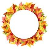 Priorità bassa con i fogli di autunno variopinti Vettore EPS-10 Immagine Stock