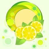 Priorità bassa con il limone fresco Fotografia Stock