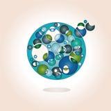 priorità bassa con il medaglione blu colorato Fotografia Stock Libera da Diritti