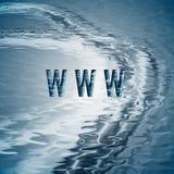 Priorità bassa con il simbolo di WWW. Fotografia Stock