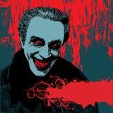 Priorità bassa con il vampiro Dracula Fotografia Stock