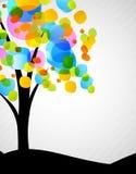 Priorità bassa con l'albero Fotografie Stock