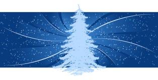 Priorità bassa con l'albero di Natale Immagini Stock