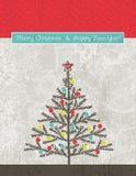 Priorità bassa con l'albero di Natale, vettore illustrazione vettoriale