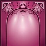 Priorità bassa con l'arco e l'ornamento decorativo Immagine Stock Libera da Diritti