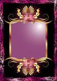 Priorità bassa con l'ornamento dorato lussuoso Fotografia Stock