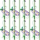 Priorità bassa con l'ornamento floreale Fotografia Stock
