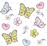 Priorità bassa con la farfalla Immagini Stock