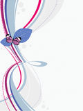 Priorità bassa con la farfalla royalty illustrazione gratis