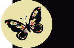Priorità bassa con la farfalla variopinta astratta Fotografia Stock