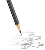 Priorità bassa con la matita Immagine Stock Libera da Diritti