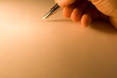 Priorità bassa con la penna Fotografia Stock Libera da Diritti