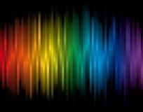 Priorità bassa con le bande del Rainbow Fotografie Stock Libere da Diritti