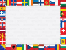 Priorità bassa con le bandierine di paesi europei Fotografie Stock