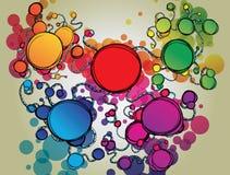 Priorità bassa con le bolle Fotografia Stock Libera da Diritti