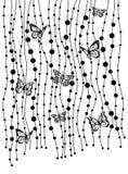 Priorità bassa con le farfalle Immagini Stock