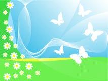 Priorità bassa con le farfalle illustrazione vettoriale