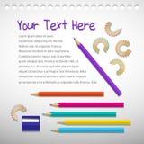 Priorità bassa con le matite di colore Fotografie Stock