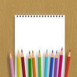 Priorità bassa con le matite di colore Immagine Stock Libera da Diritti