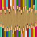 Priorità bassa con le matite di colore Immagini Stock Libere da Diritti