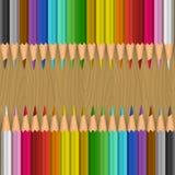 Priorità bassa con le matite di colore Fotografia Stock Libera da Diritti