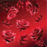 Priorità bassa con le rose illustrazione vettoriale