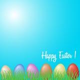 Priorità bassa con le uova di Pasqua Immagine Stock Libera da Diritti