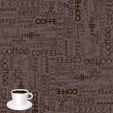 Priorità bassa con tipografia del caffè Fotografia Stock Libera da Diritti